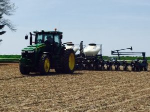 Planting corn in Macon County mid-April.