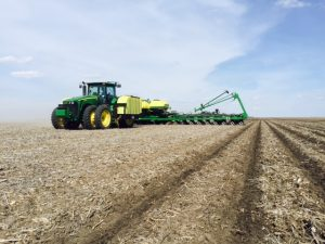 Applying liquid, starter fertilizer in-furrow with no-till corn.